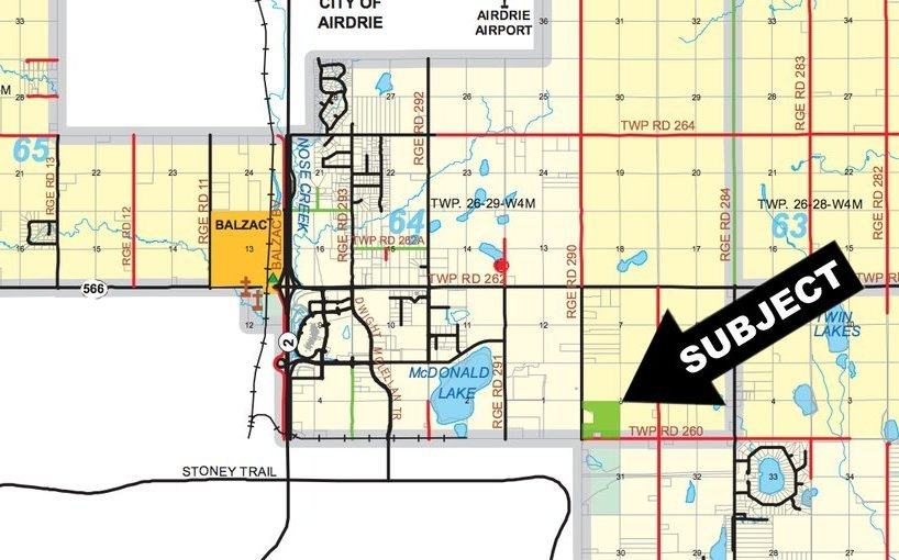 Map Of 138 Acres of Premier Industrial Land