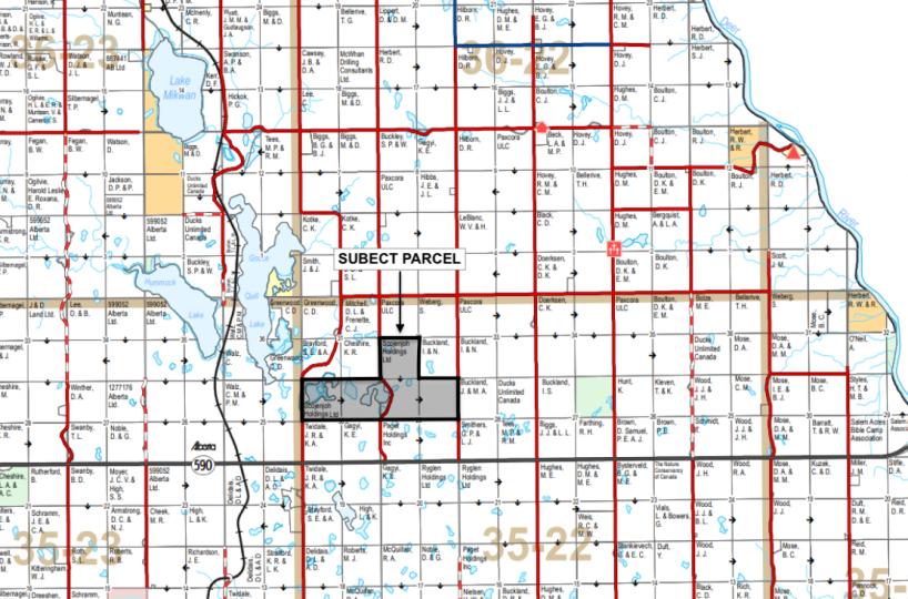 Hansen Land Brokers - Elnora County Map