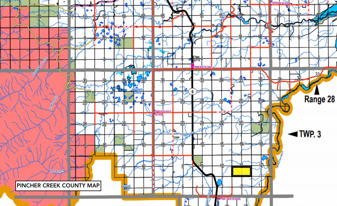 Hansen Land Brokers - Glaister County map pincher