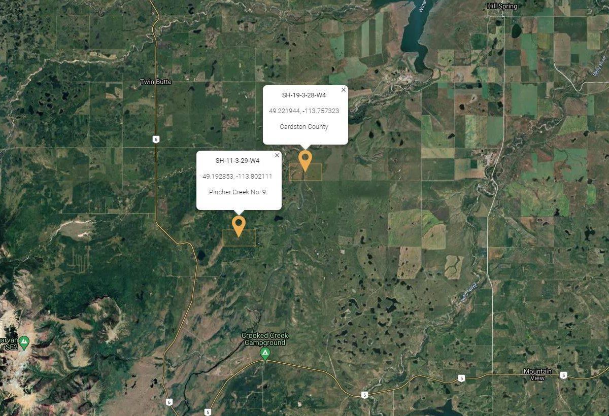 Hansen Land Brokers - 2 Half Sections in the Pincher Creek County